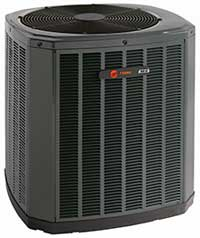 Energy efficient Trane air conditioners.